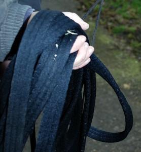 Basic Horse Care lunge line close up (www.basic-horse-care.com)