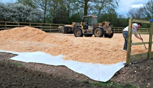 Wood Chip Horse Arena Surface (www.Basic-Horse-Care.com)